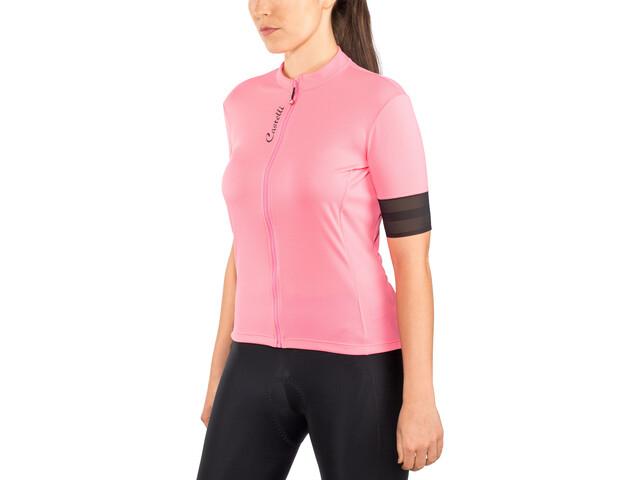 Castelli Anima 2 Maglietta jersey con zip frontale Donna, pink/light black